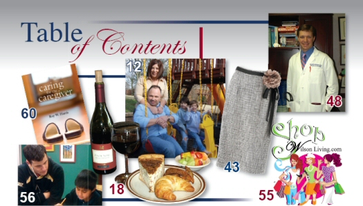 Wilson Living Magazine - Table Of Contents