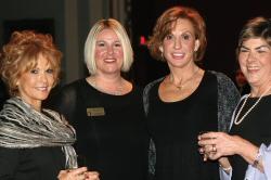 WLM - Cumberland University Development Officer Camille Burdine stands beside a few loyal Cumberland University donors.