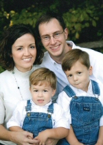 WLM - Sara Walker with her husband Brian & two sons