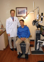 WLM - Optometrists Brad Altman (left) and Jon Franklin have been partners since 2005.